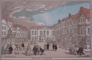 Market Place at Cambridgeby Rowladson - 1801