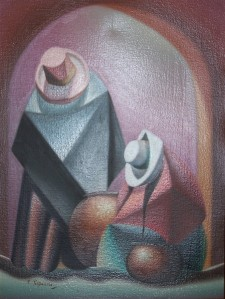 Water-carriers RestJose Portocarrero Millones - oil on canvas