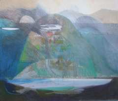 In the Welsh Valleypencil, wax & oil crayonby Alec Pearson