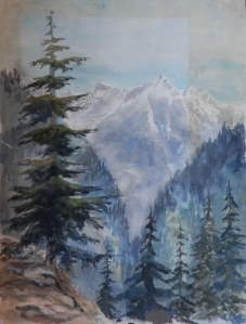 Mountain Grandeur unknown artist - watercolour