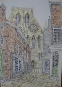 Minster Gate, York by D A Heald
