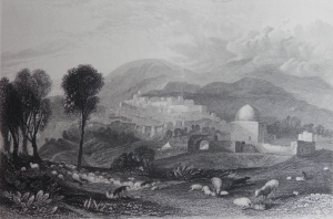 Ramah, Rachel's Tomb drawing by JMW Turner W. Finden sculpt