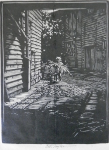 The Dust Bin etching by CW Taylor