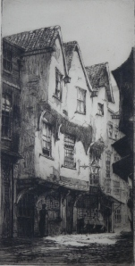 York etching by Percy J Westwood (1878-1958)