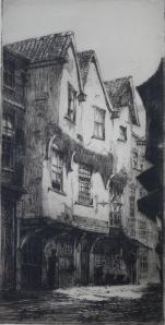 York etching by Percy J Westwood (1878-1958)