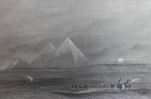 The Pyramids of Ghizeh drawn by JMW Turner E Finden engraving