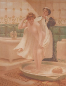 After the Bath by Albert Guillaume @ 1910