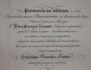 Pavimentum hoc tessallatum engraving by J Cole @1738