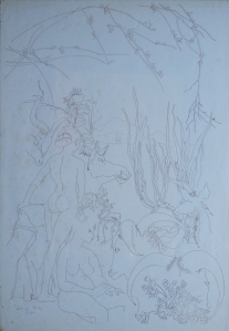 Paradise Lost by Letizia Cerio pen and ink drawing