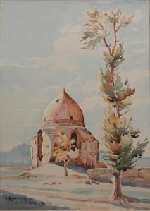 A Holy Place Sumbat Der Kiureghian watercolour - 1947