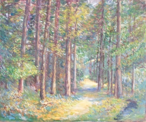 Pine Forest, Kinver oil painting by E E Pritchard 1920
