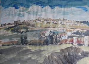 Avila, Spain by Mervyn Rowe 1965