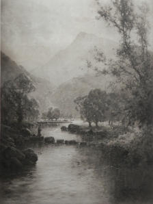 A Welsh Valley artist Alfred be Breanski Bovril print by CW Faulkneer @1914