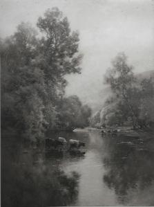 In The Heart Of Devon artist Alfred de Breanski Bovril print by CW Faulkner @ 1913