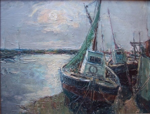 Harbour at Low Tide unknown artist