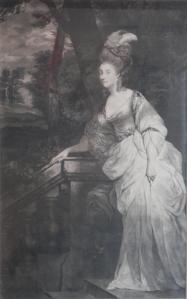 Georgina, Duchess of Devonshire mezzotint by Valentine Green