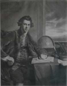 Joseph Banks mezzotint by William Dickinson