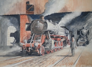 Locomotive 50469 watercolour by DEAN