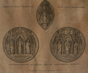 Sigillum of Ely Cathedral and Clare College