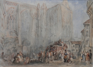 St Julian's, Tours 1832 watercolour - JMW Turner?