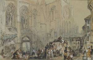 St Julian's, Tours circa 1826-30 by Joseph Mallord William Turner 1775-1851