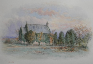 Pilmoor Mission Church watercolour by George Fall