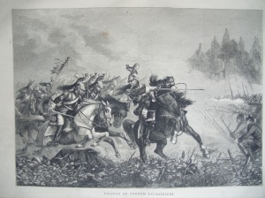 Charge of the French Cuirassiers for 'The Graphic Illustrated' 1870