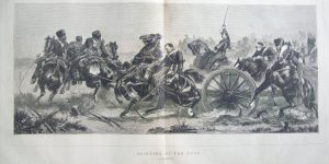 Bringing Up the Guns by Schreyer for The Graphic Illustrated 1870