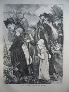 Flight of French Peasants from Bazeilles for 'The Graphic Illustrated' 1870