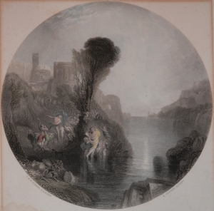 Bacchus and Ariadne by JMW Turner/C Cousen etching @ 1878