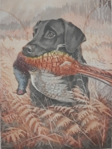 Yes Sir! Black Labradour Retriever - Bramshaw Bob by Rueben Ward Binks