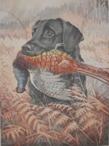 Yes Sir! Black Labradour Retriever - Bramshaw Bob by Rueben Ward Binks