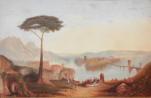 Childe Harold's Pilgrimage watercolour after JMW Turner @ 1830