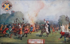 The Peasants' Revolt 1381 postcard by Raphael Tuck & Sons 1907