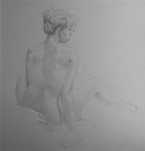 Lidia by Richard Sell in conte crayon