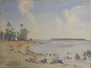Kayts Island from Karaitivu, Ceylon by M G Prater 1945