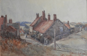 A Quiet Corner, Seaton Sluice by Charles Smith @ 1924