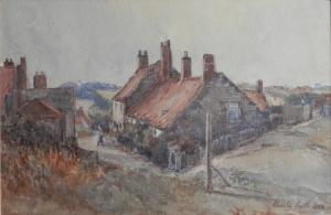 A Quiet Corner, Seaton Sluice by Charles Smith @ 1924