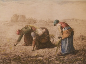The Gleaners etching by Camille Fonce after JF Millet