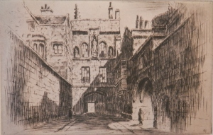 New College Gates - Oxford by G Huardel-Bly