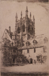 Merton College, Oxford by G Huardel-Bly