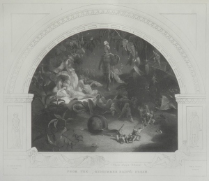 There Sleeps Titania etching by Fred Heath for Virtue's Imperial Shakspere @ 1865