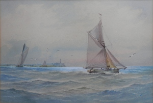 Pilot Cutters A-sail unknown artist late 19th - early 20th century