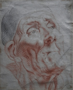 Head of a Man Pastel/chalk drawing by Antoine Coypel @1700
