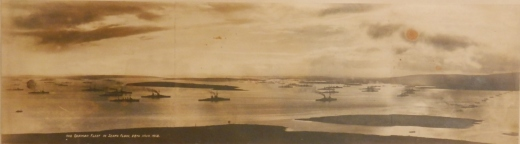 The German Fleet in Scapa Flow 28 Novr. 1918