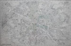 Plan Geometrique de la Plan de Paris by Charles Picquet @ 1837