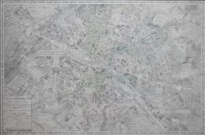 Plan Geometrique de la Plan de Paris by Charles Picquet @ 1837
