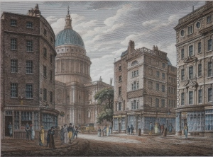 St Paul's from Cheapside published by Colnaghi @ 1840
