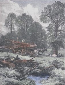 The Wood-wain engraving by Myles Birket Foster