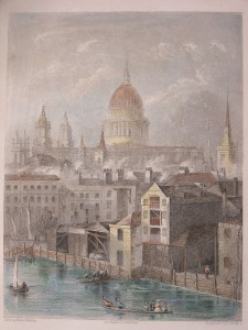 St. Paul's Cathedral from Winkle'as cathedrals @ 1840